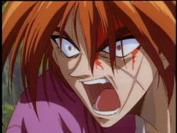Kenshin's totally going Super Saiyan here.