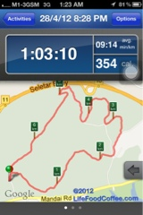 RunKeeper apps map Energizer Night Trail 2012