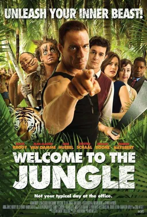 Poster Of English Movie Welcome to the Jungle (2013) Free Download Full New Hollywood Movie Watch Online At Alldownloads4u.Com