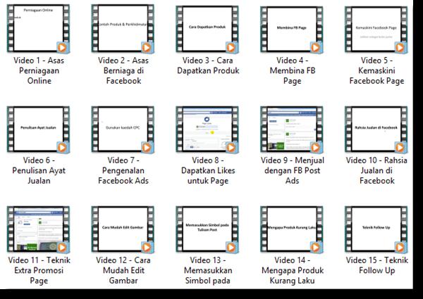 panduan video mudahnya berniaga di facebook