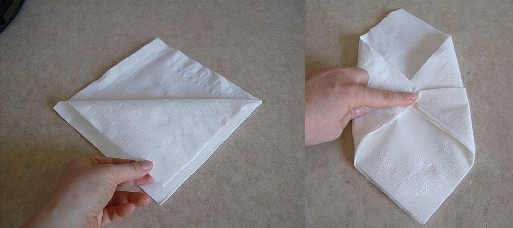 Dobla f cil las servilletas de papel - Como decorar una servilleta de papel ...