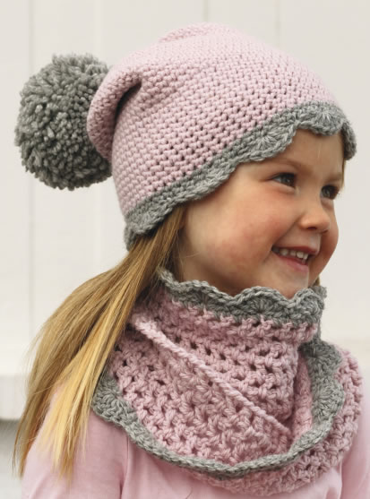 2a4454be6 conjunto de gorro y cuello tejido a crochet