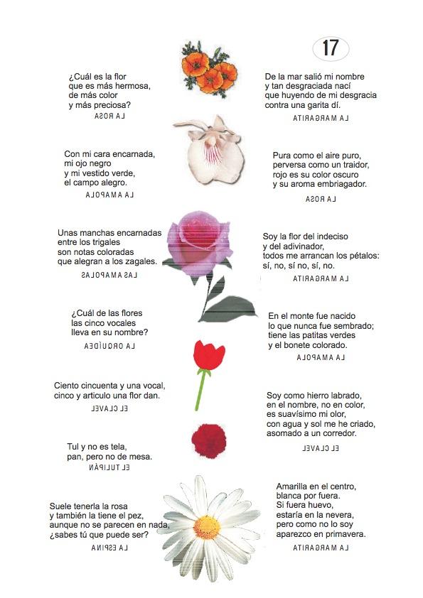 Los duendes y hadas de Ludi: Adivinanzas de plantas