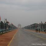 """""""Rajpath"""", avenue des défilés de New Delhi. A l"""