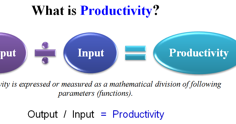 define productivity as the relationship of inputs to outputs and outcomes