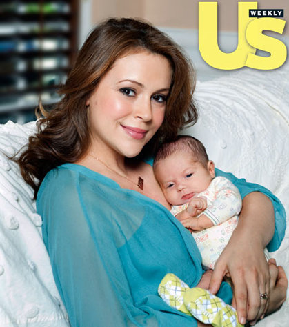 Alyssa Milano Baby Boy Milo Thomas - Another Over 35 Celebrity Mom
