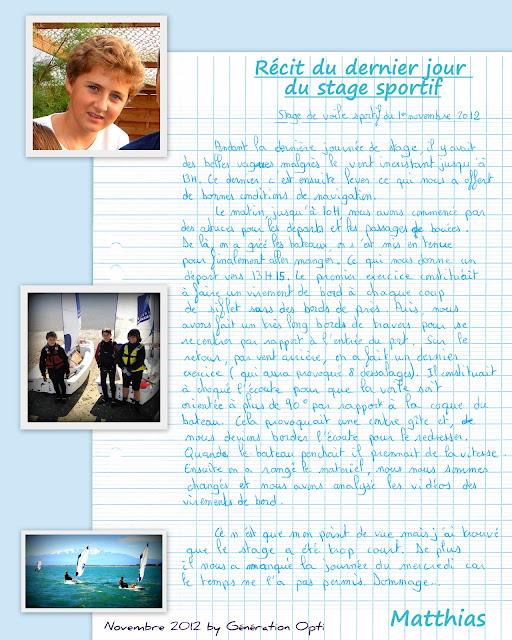 Optimist stage voile compétition toussaint_2012 Canet-en-Roussillon