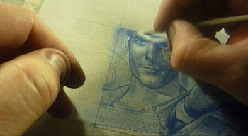 Christopher Reeve as Superman Pencil Study by Jeff Lafferty