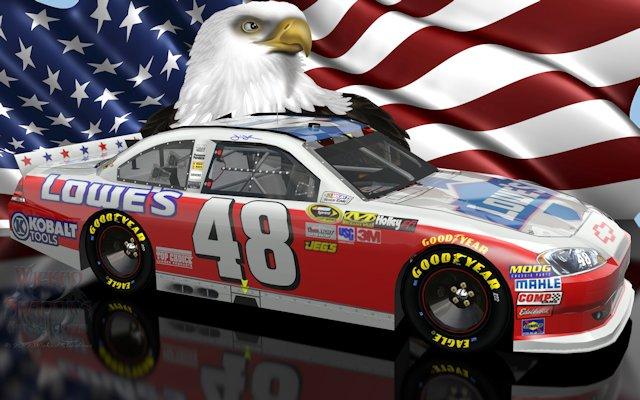 Jimmie Johnson NASCAR Unites Patriotic Wallpaper