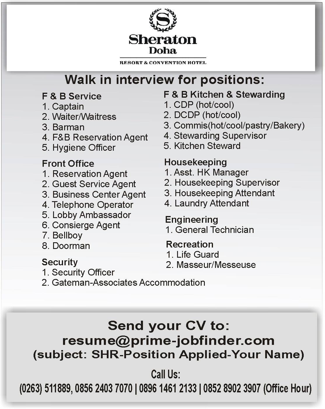Charming Housekeeping Lobby Attendant Resume Images - Professional ...