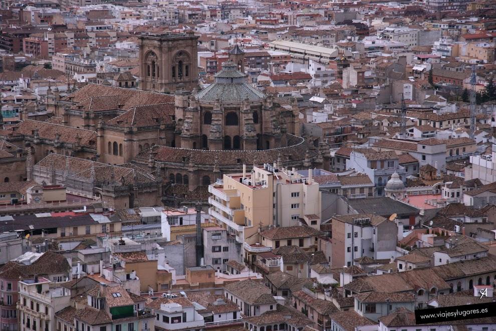 Foto de la catedral vista desde el Albaicín