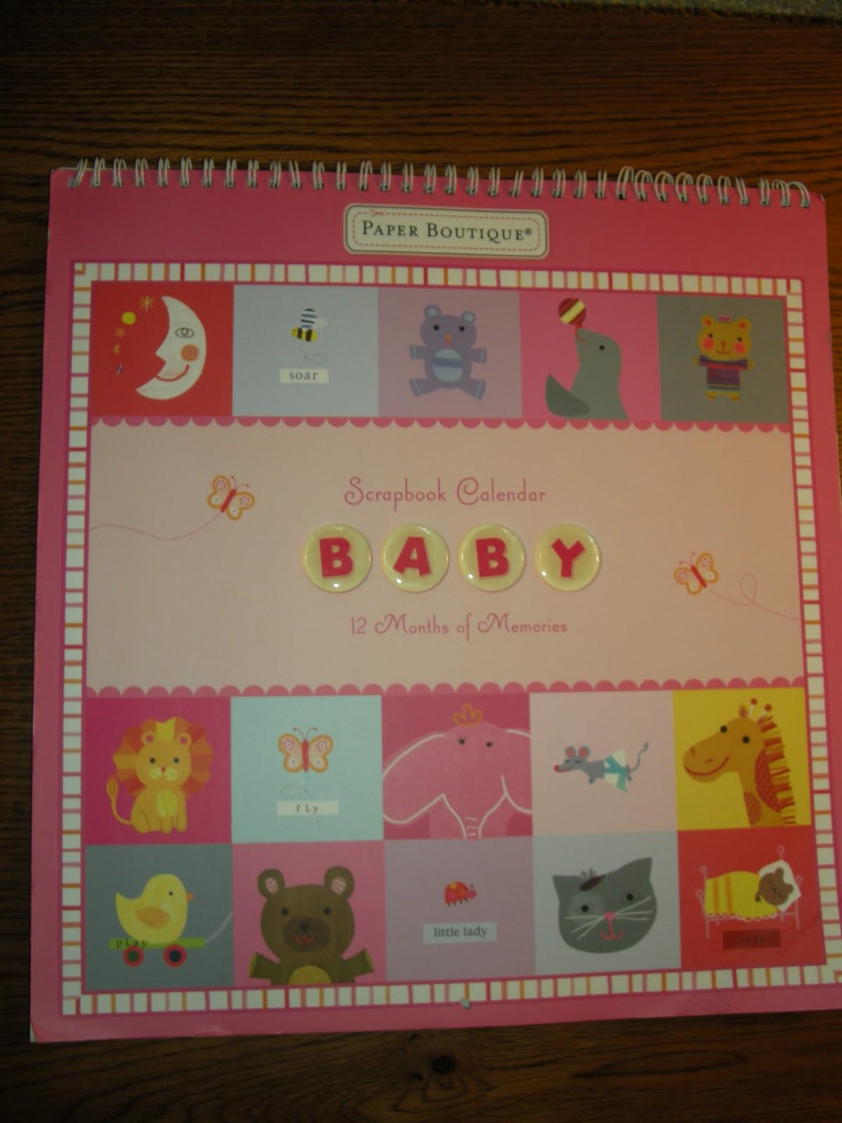 Baby Scrapbooks For Sale Baby Scrapbook Calendar