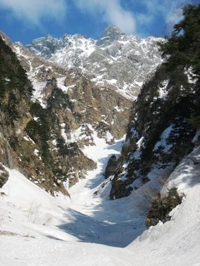 滝谷と北穂高岳