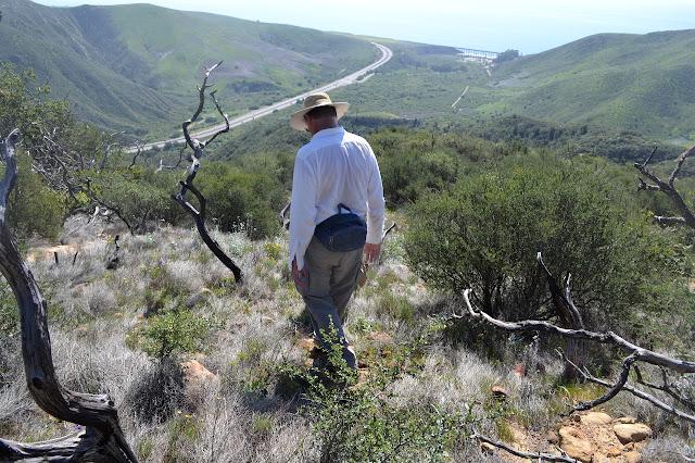 starting down the ridge