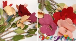 Bó hoa vải đẹp cho ngày lễ valentine (bước 6)