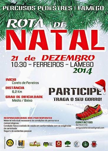 Programa - Rota de Natal - Lamego - 2014