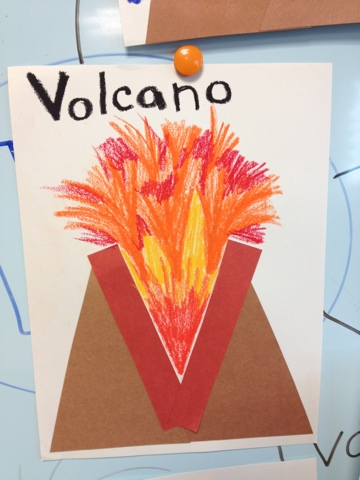alphabet letter craft v is for volcano color me sweet
