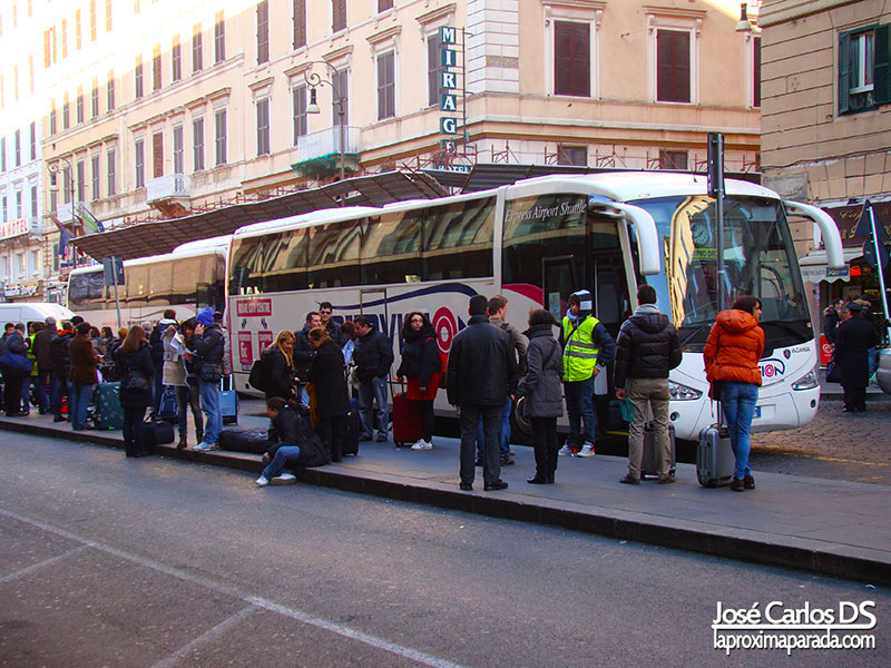 fotografia estacion termini roma: