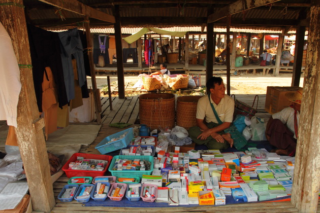 A Pharmacy Shop in Inle's markets, Myanmar