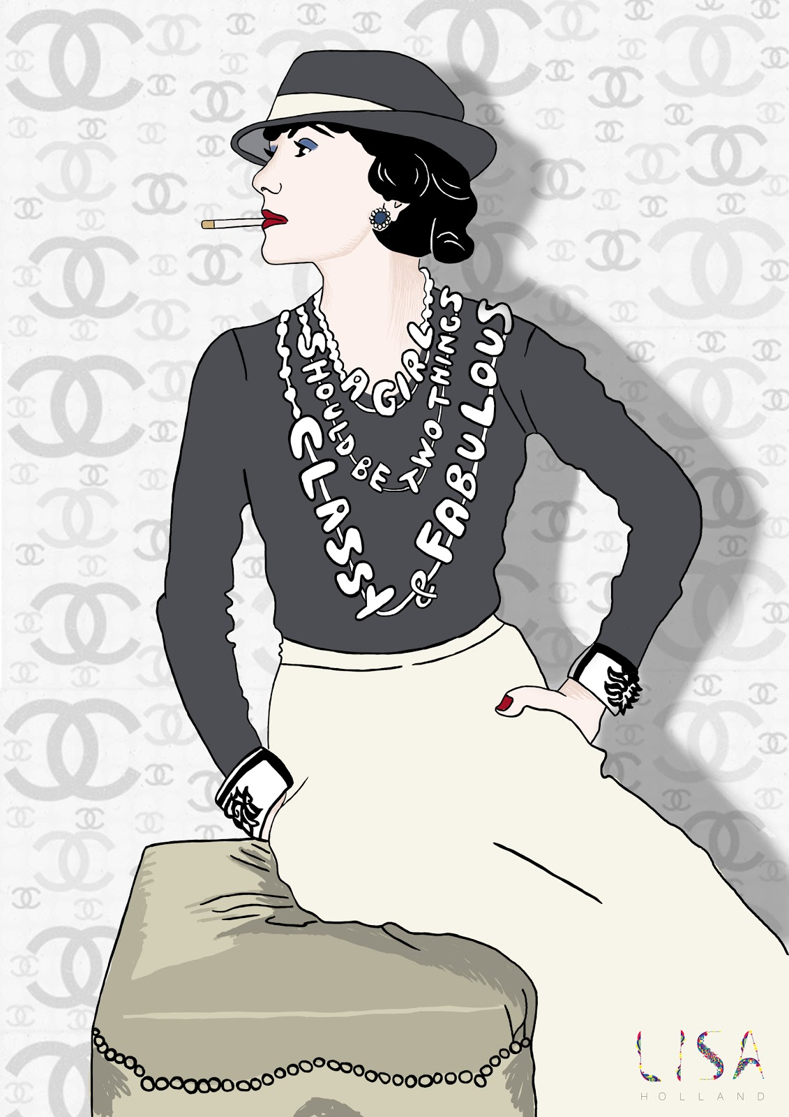 Lisa Holland Design: Iconic Women - Coco Chanel