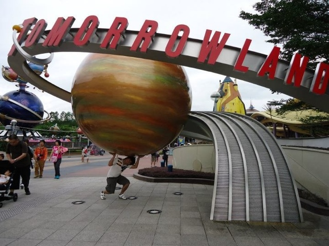 Tomorrowland  at Disneyland Hongkong