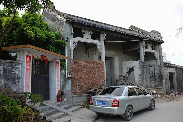 traditional Chinese style building in Beishan Village, Zhuhai, China
