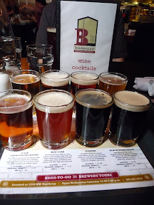 all the beers at Bridgeport Brewery in a sampler tray