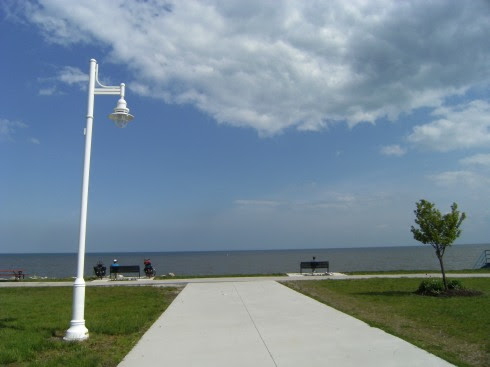 Veteran's Memorial Beach in St. Clair Shores, Michigan, USA