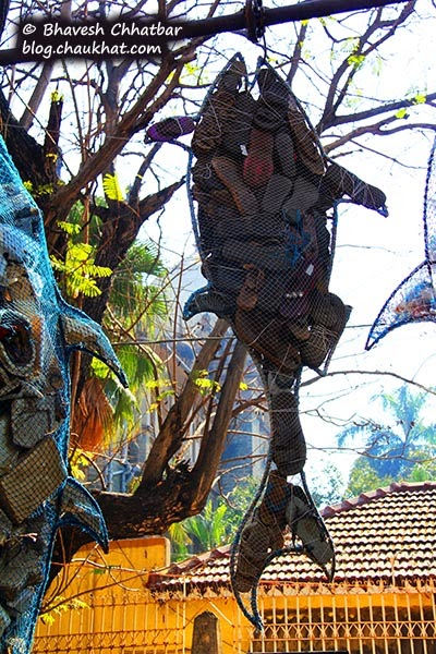 Kala Ghoda - Fish made from scrap footwear