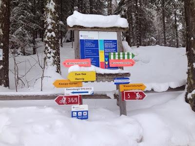 Viele Winterwanderwege in Grächen.