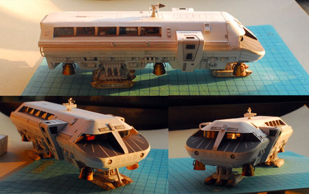 2001 A Space Odyssey Moonbus Papercraft