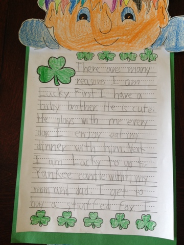 Book Thief Essay Questions Topic Was Being Lucky He Did This At School And Was A Big Surprise For Us  The Green Leaf Is Called Shamrock And It Is Believed To Bring Luck To You  Statutory Interpretation Essay also Inanimate Object Essay My Two Princes Rock Rams Essay On Being Lucky Phobia Essay