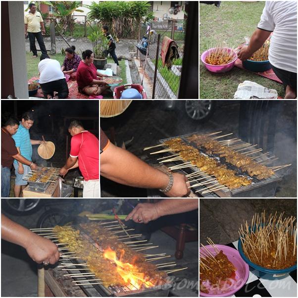 Persediaan dan membakar Satay