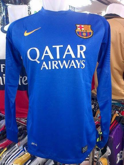 Jersey Kiper Barcelona Biru Lengan Panjang