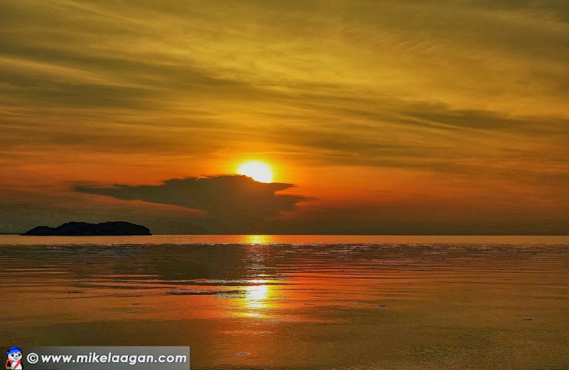 Sunset at Agta Beach