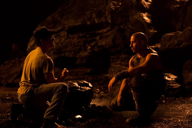 Riddick david twohy and vin diesel on set