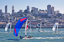 J/105 and J/120 one-design regatta on San Francisco Bay