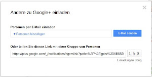 Google+ Einladungen