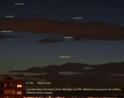 Secuencia. Conjunción de Venus y Mercurio