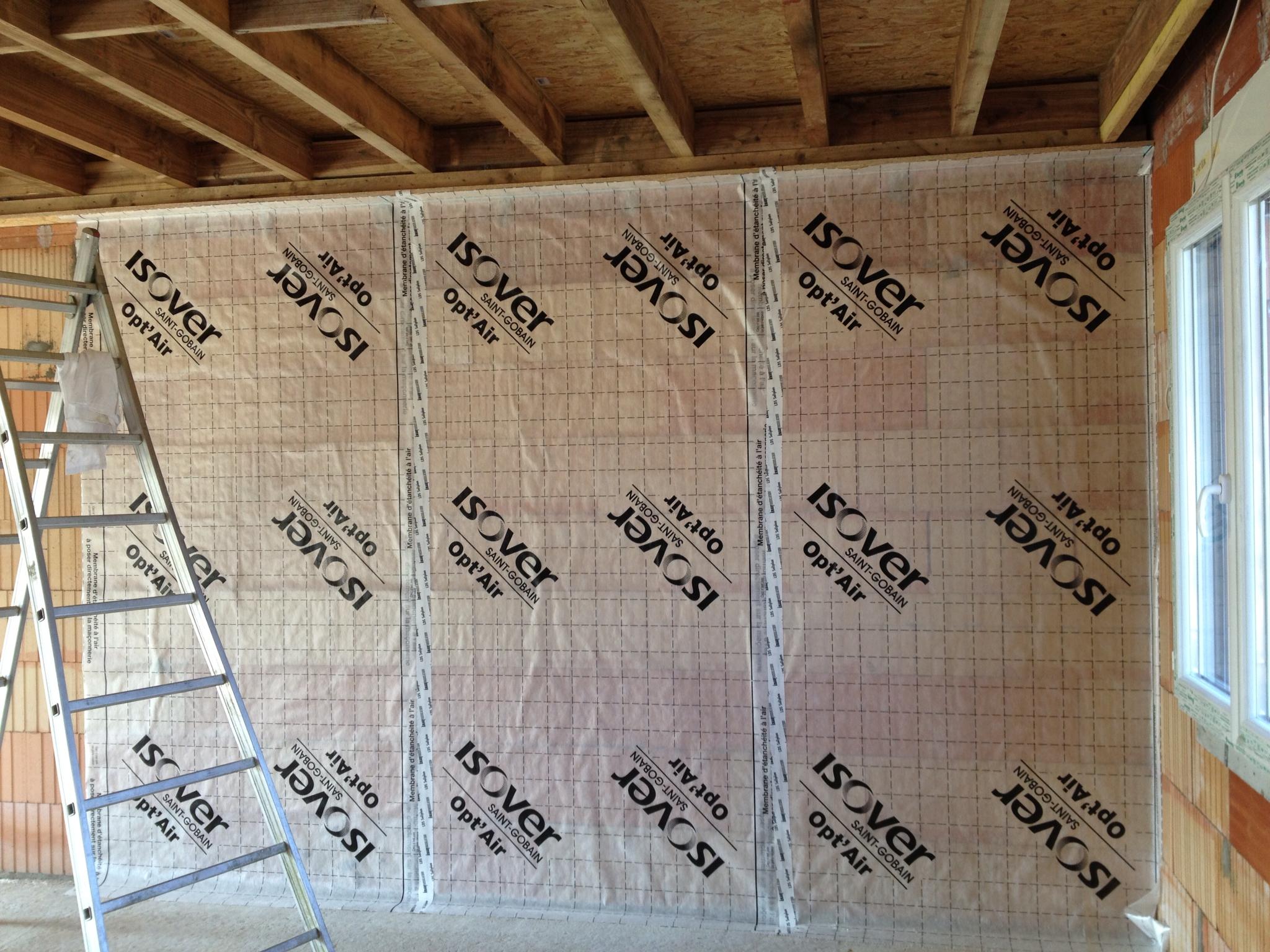 Tanch it l 39 air avec la membrane opt 39 air et pose des lisses - Membrane opt air ...