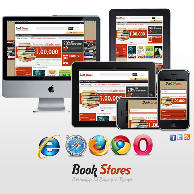 Responsive Prestashop Themes - Book and Magazine Themes