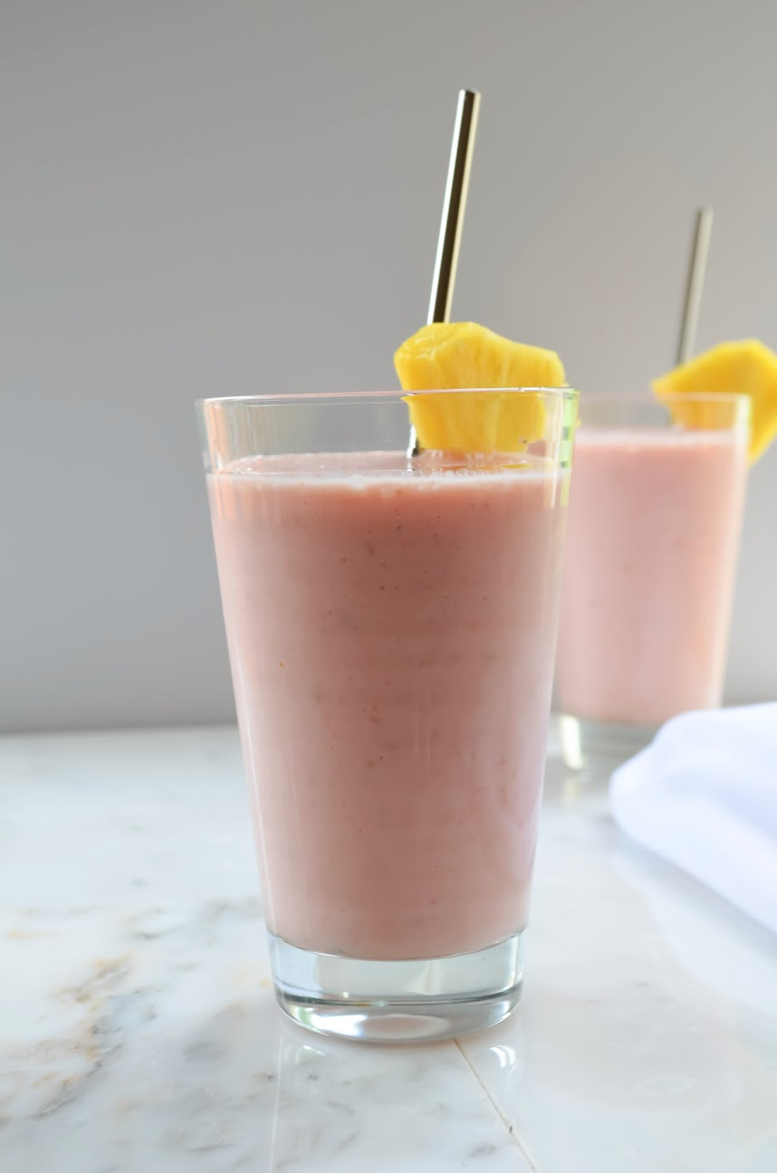 Pineapple Strawberry Raspberry Smoothie