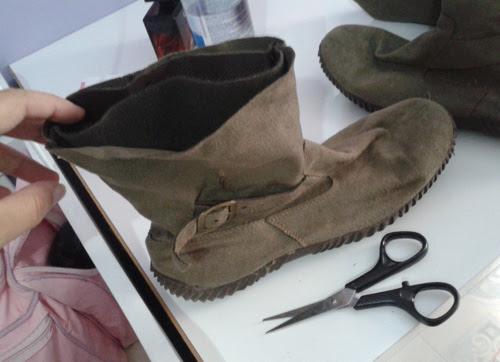 DIY - como cortar bota cano longo e transformar em cano curto