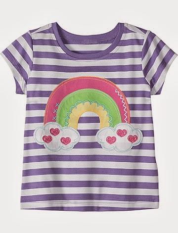 inspiração: arco-íris - camiseta com arco-íris, nuvens e corações