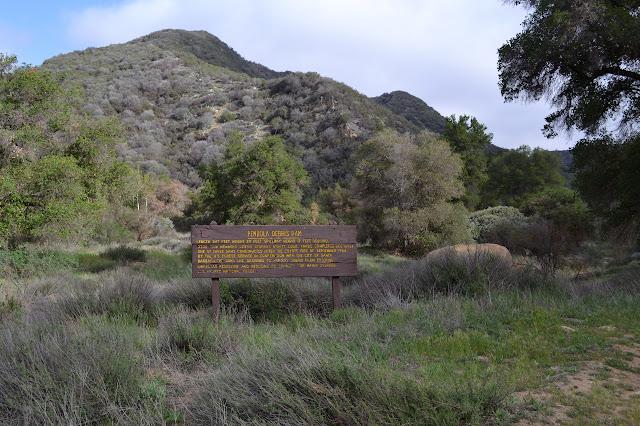 Pendola Debris Dam sign