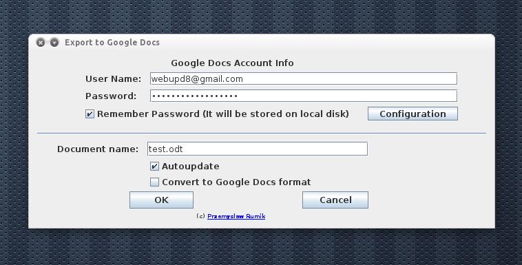 LibreOffice Google Docs Sync Addon