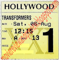 Transformers: Dark of The Moon Ticket
