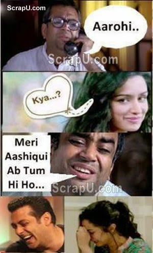 Baburao and Arohi - Aashiqi2-Funny-Pics pictures