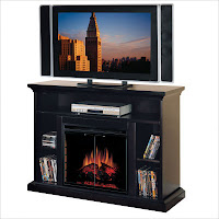 LCD fake fireplace TV stand