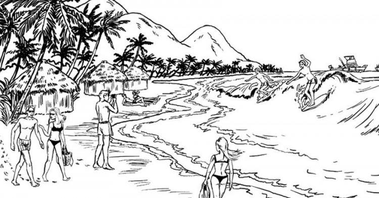 ausmalbilder malvorlagen strandurlaub malvorlagen